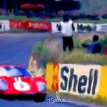 """GT 40 AT LEMANS"" by ArtbySachse"