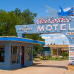 """Blue Swallow Motel Neon Sign in Tucumcari On Route"" by KeatingArt"
