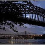 """Hellgate and Triboro Bridges in Astoria"" by visualcontact"