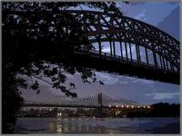 Hellgate and Triboro Bridges in Astoria