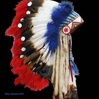 Red indian headress.