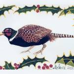 """Christmas Pheasant"" by Lawnjockey"
