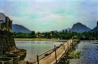 River bridge, Laos