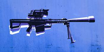 M82 Sniper Rifle on Blue