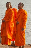 Laughing Monks, Angkor Wat, Cambodia