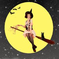 Adorable Pin-Up WItch Art Prints & Posters by Cheryl Lawhon