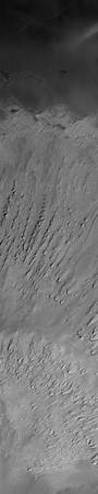 Yardangs in Tithonium Chasma, Mars