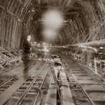 """Caldicott Tunnel under Construction 1935"" by worldwidearchive"