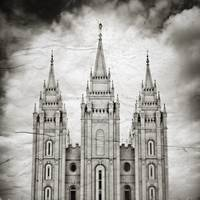 Salt Lake Temple Vintage Spires