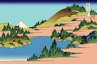 Hokusai The lake of Hakone in Sagami Province