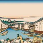 Hokusai Nihonbashi bridge in Edo by Leo KL