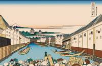 Hokusai Nihonbashi bridge in Edo