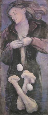 Woman with Eggs and Bones