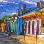 """French Quarter Rainbow of Houses"" by thefrenchquartergallery"