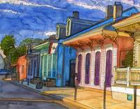 French Quarter Rainbow of Houses