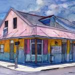 """French Quarter House in Pink and Blue"" by thefrenchquartergallery"