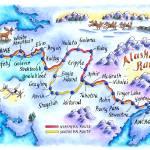 """Iditarod Trail Map"" by jenniferthermes"