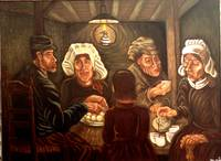 Potato Eaters after Van Gogh