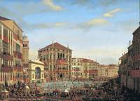 Napoleon I Presiding over a Regatta in Venice by G