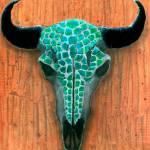 """""""Turquoise Skull"""" by ByronMorrisArt"""