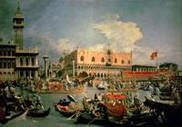 Return of the Bucintoro by Canaletto