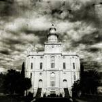 """St George Temple Vintage"" by LDSTempleArt"