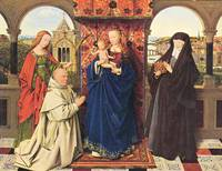 The Madonna with the Carthusians by Jan Van Eyck