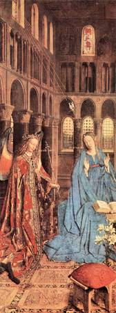 Mary's Proclamation by Jan Van Eyck
