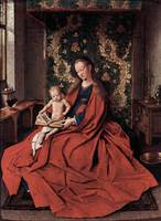Madonna and Child Reading by Jan Van Eyck