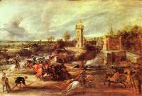 Tournament at a Castle by Peter Paul Rubens