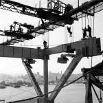 """Steel Workers during Bay Bridge Construction c1935"" by worldwidearchive"