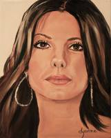 Sandra Bullock Celebrity Oil Painting