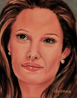 Angelina Jolie Celebrity Painting