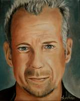 Bruce Willis Celebrity Painting