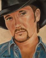 Tim McGraw Celebrity Painting