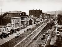 View West up Market Street c1865 by WorldWide Archive