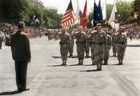 Bush Greets returning armed forces from Desert Sto by WorldWide Archive