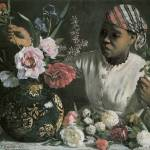 """Bazille African Woman With Peonies"" by oldies"