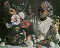 Bazille African Woman With Peonies