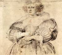 Portrait of Helene Fourment by Peter Paul Rubens