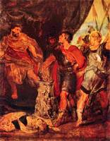 Mucius Scaevola before Porsenna by Paul Rubens