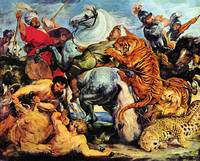 Lion and Tiger Hunting by Peter Paul Rubens