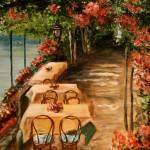 """""""Lakeside Cafe by Dyanne Parker"""" by DyanneParkerArt"""