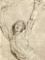 Figure Study of Christ by Peter Paul Rubens