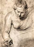 Female Figure by Peter Paul Rubens