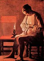 Woman with the Flea by Georges de La Tour