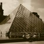 """Louvre Pyramid in Sepia"" by Patflinschrod"