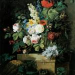 """Redoute Elaborate Flowers Still LIfe"" by oldies"