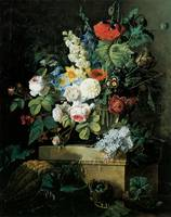 Redoute Elaborate Flowers Still LIfe