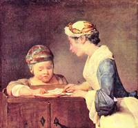 The Young Teacher by Jean Chardin